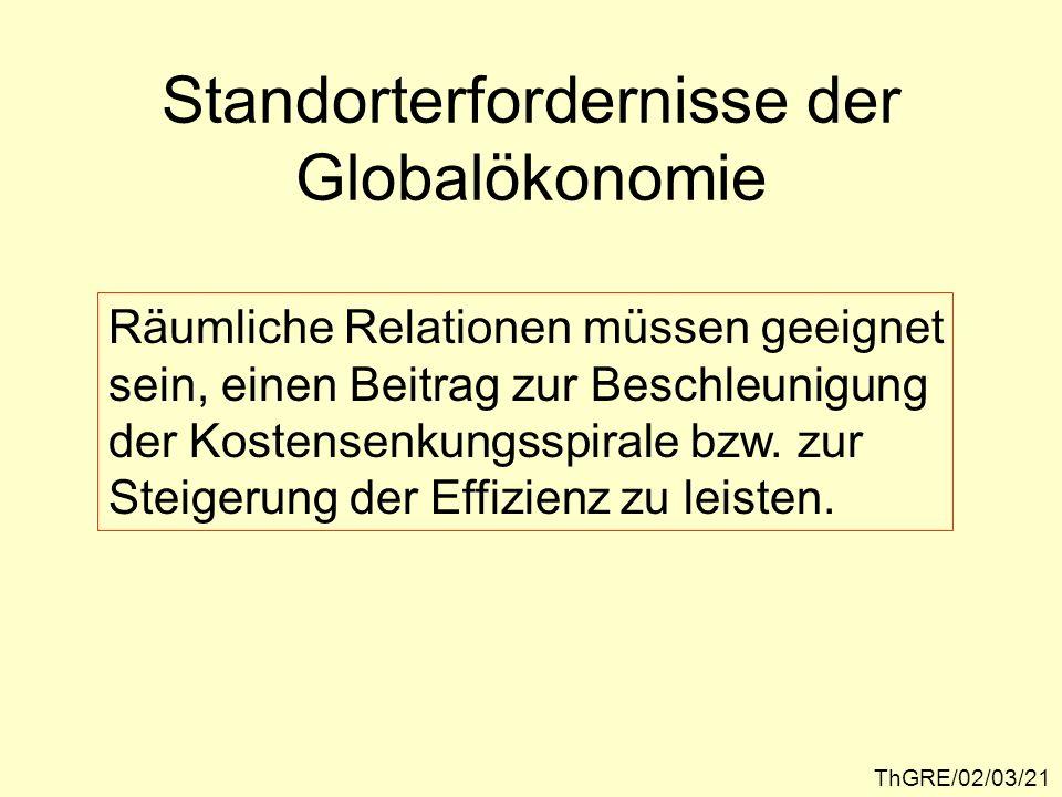 Standorterfordernisse der Globalökonomie