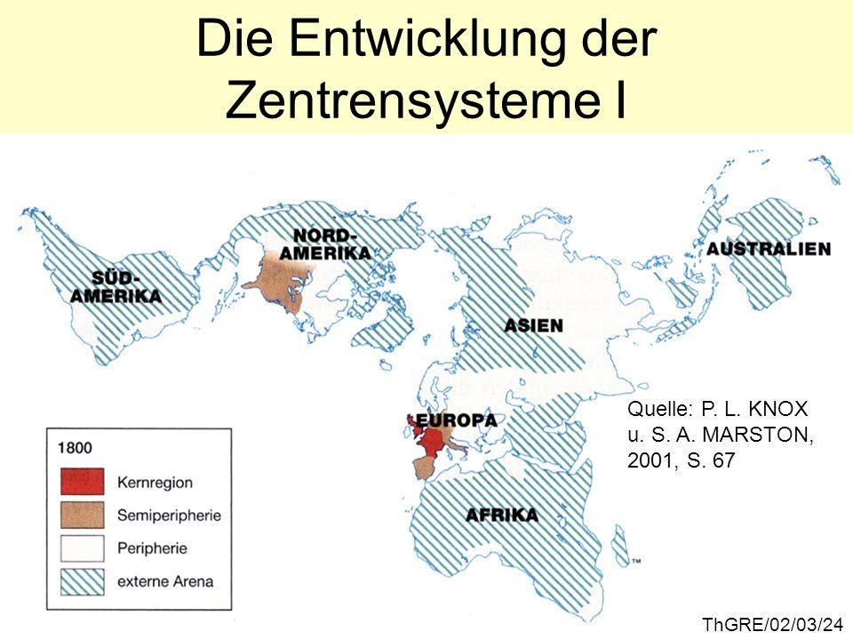 Die Entwicklung der Zentrensysteme I