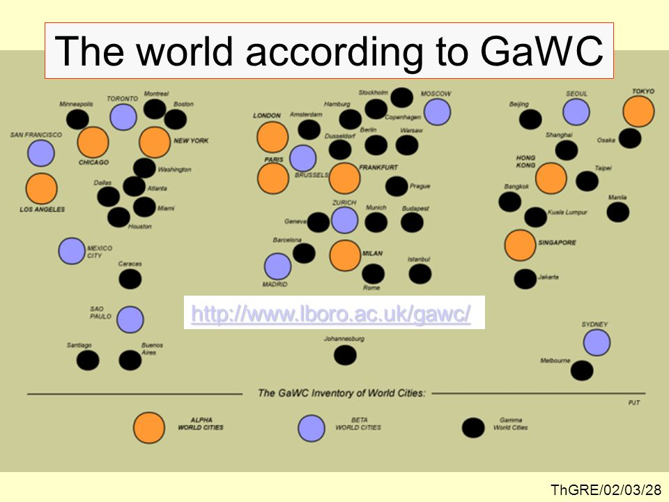 The world according to GaWC