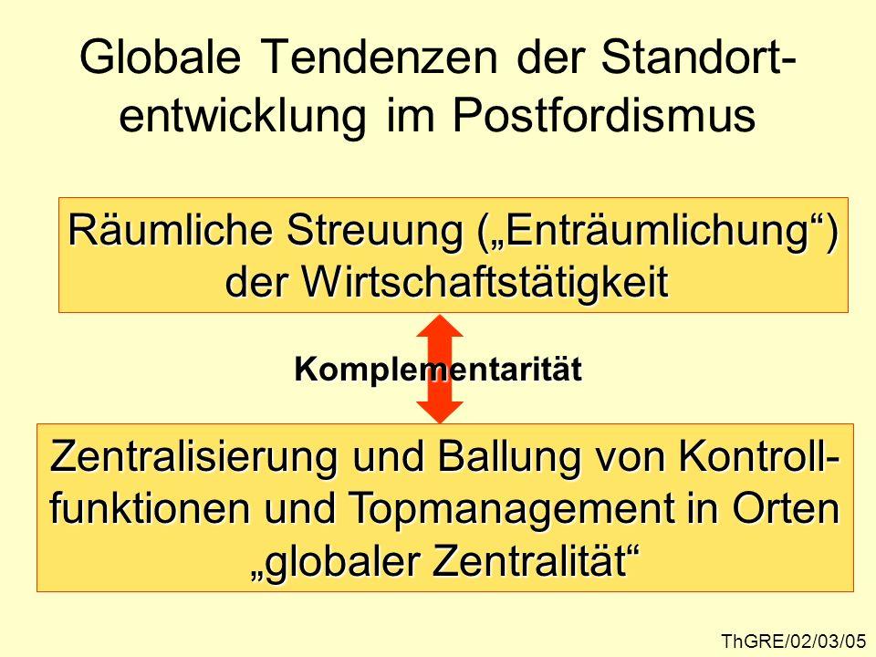 Globale Tendenzen der Standort-entwicklung im Postfordismus