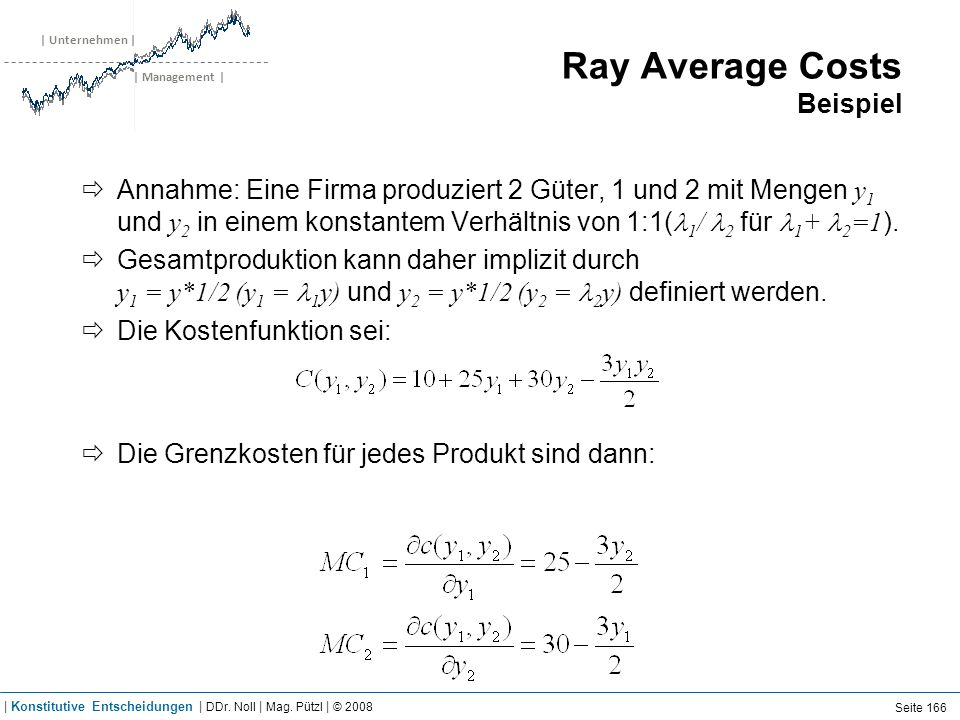 Ray Average Costs Beispiel