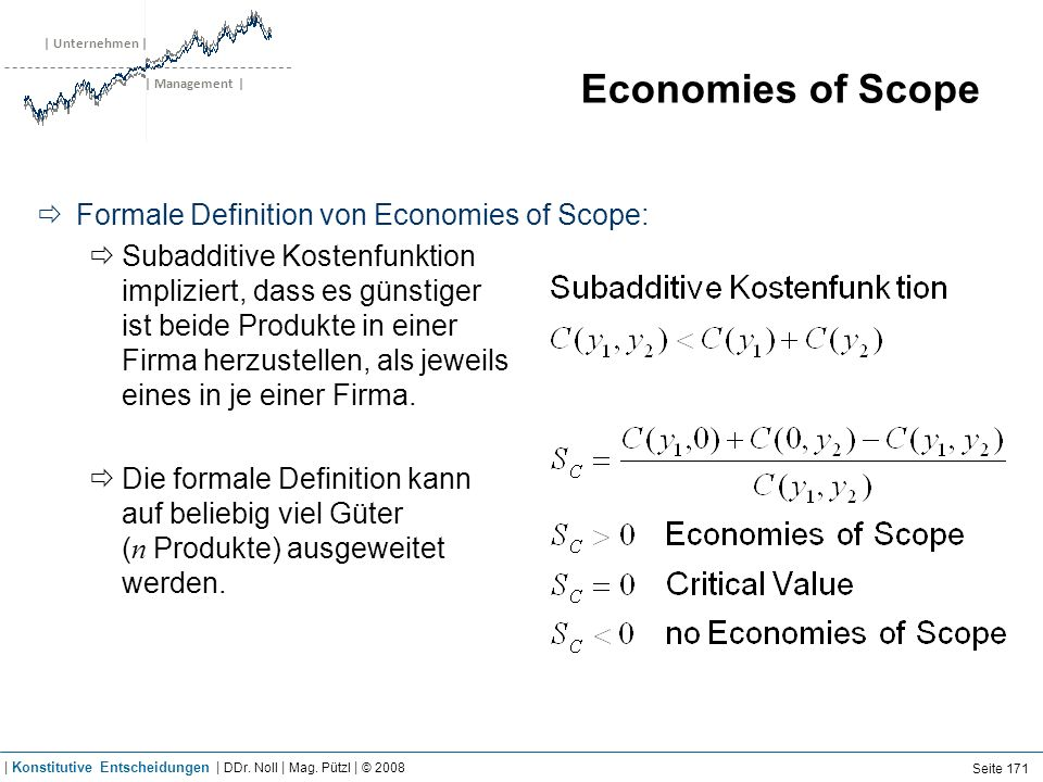 Economies of Scope Beispiel