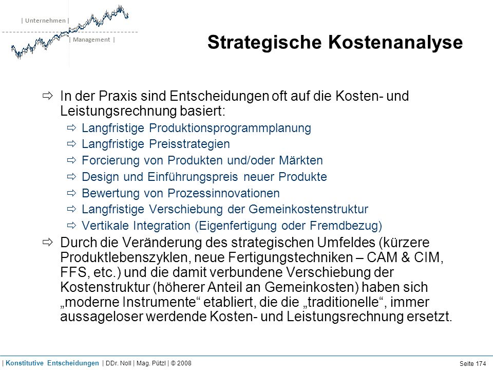 Strategische Kostenanalyse