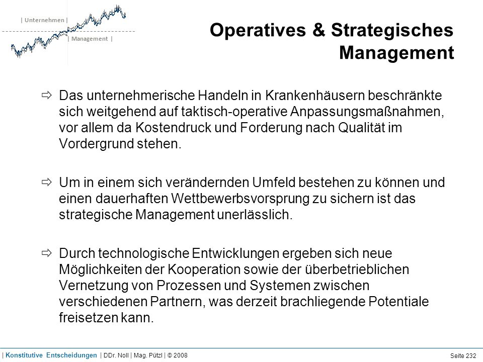 Operatives vs. Strategisches Management