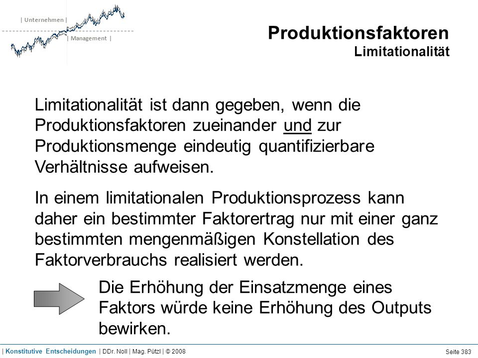 Produktion Economies of Scale & Scope
