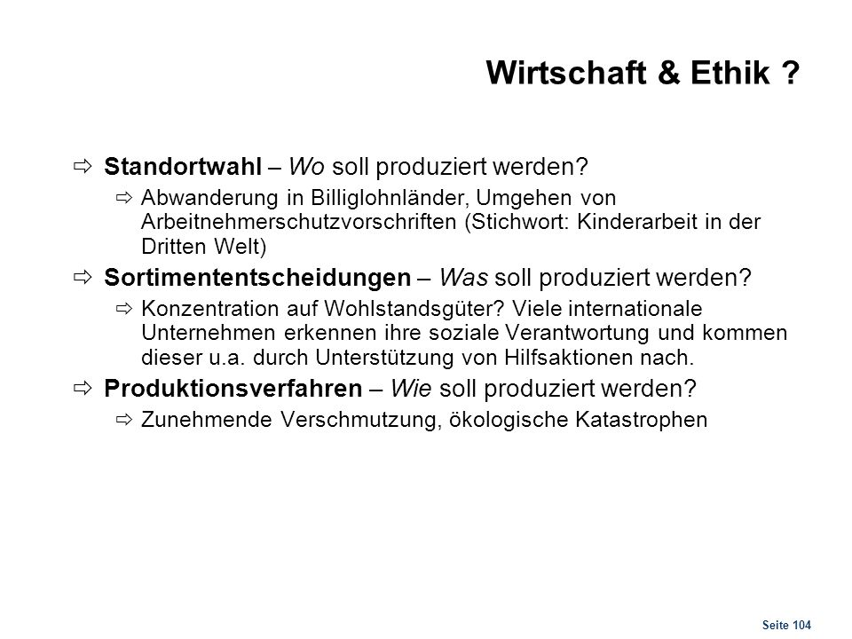 Unternehmen & Ethik