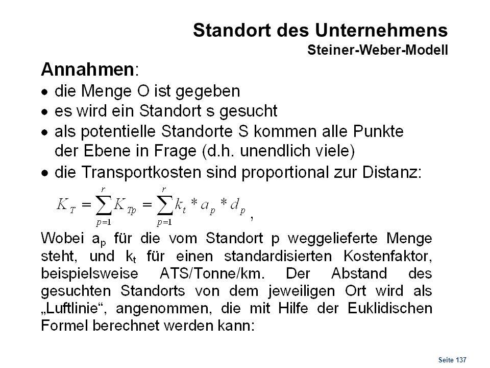 Standort des Unternehmens Steiner-Weber-Modell