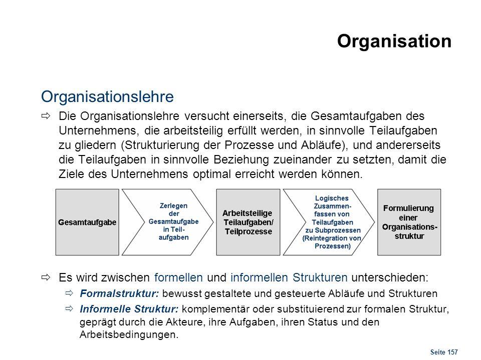 Organisation Organisationslehre