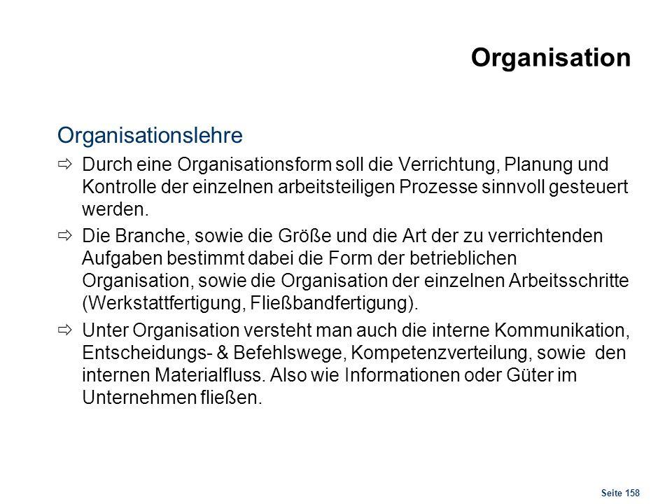 Organisation Aufbau- & Ablauforganisation