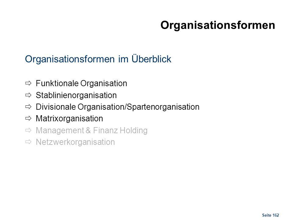 Organisationsformen Funktionale & Stablinienorganisation