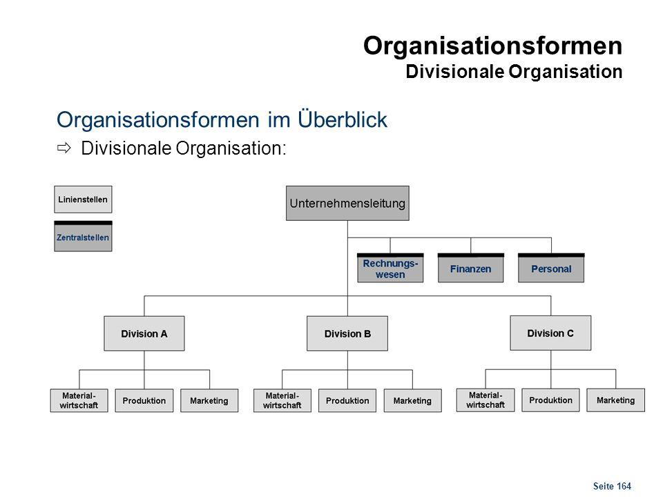 Organisationsformen Matrixorganisation