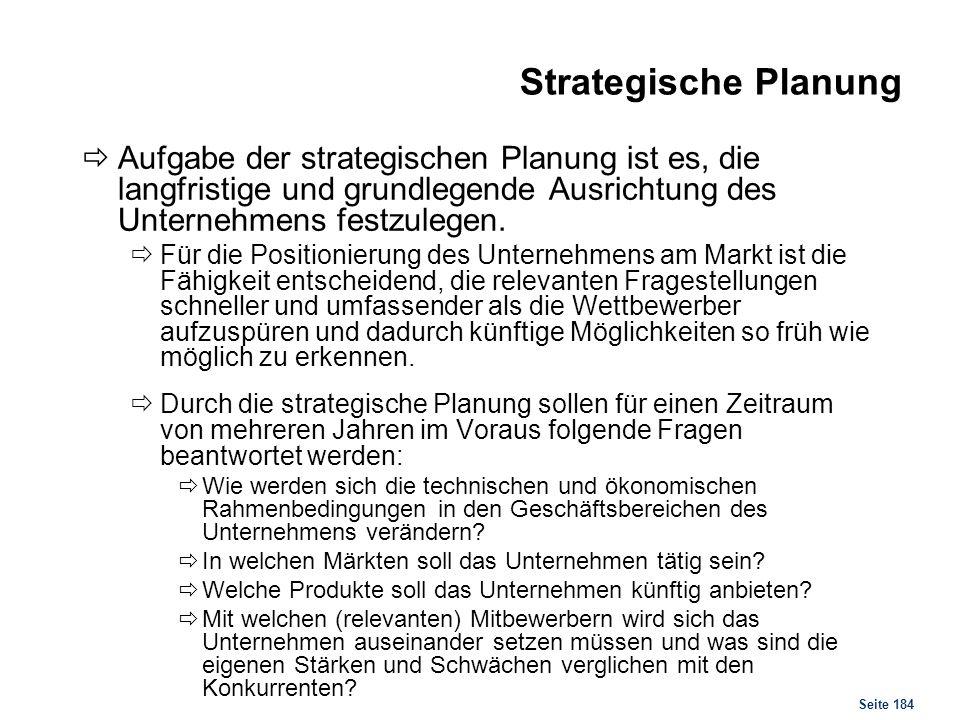 Strategische Planung Instrumente und Entscheidungshilfen