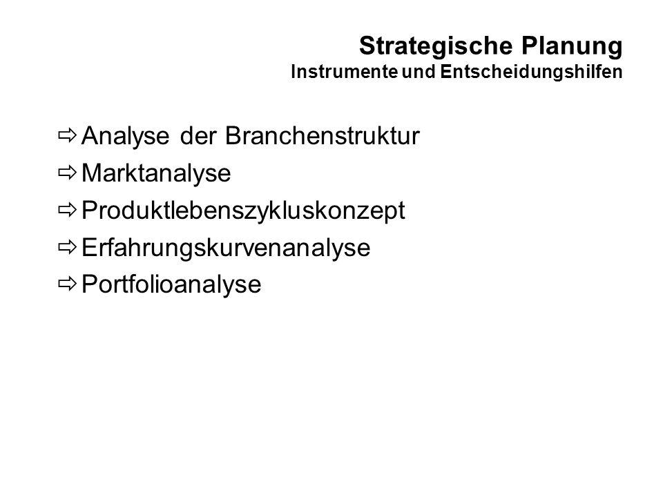 Strategische Planung Elemente des Branchenwettbewerbs (Michael Porter)