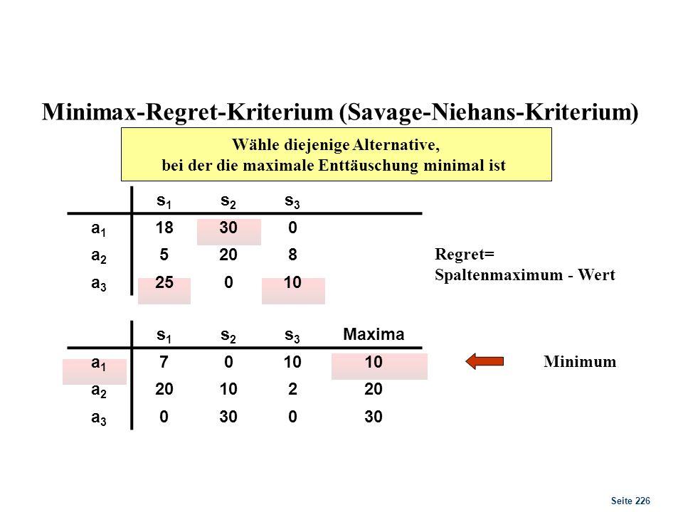 Laplace-Kriterium Pj = 0.333… MEW (Monetärer Erwartungswert) = S eijpj