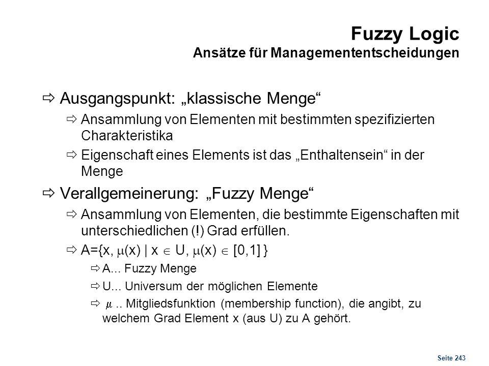 """Fuzzy Logic Beispiele für fuzzy Mengen: """"Hohe Geschwindigkeit"""