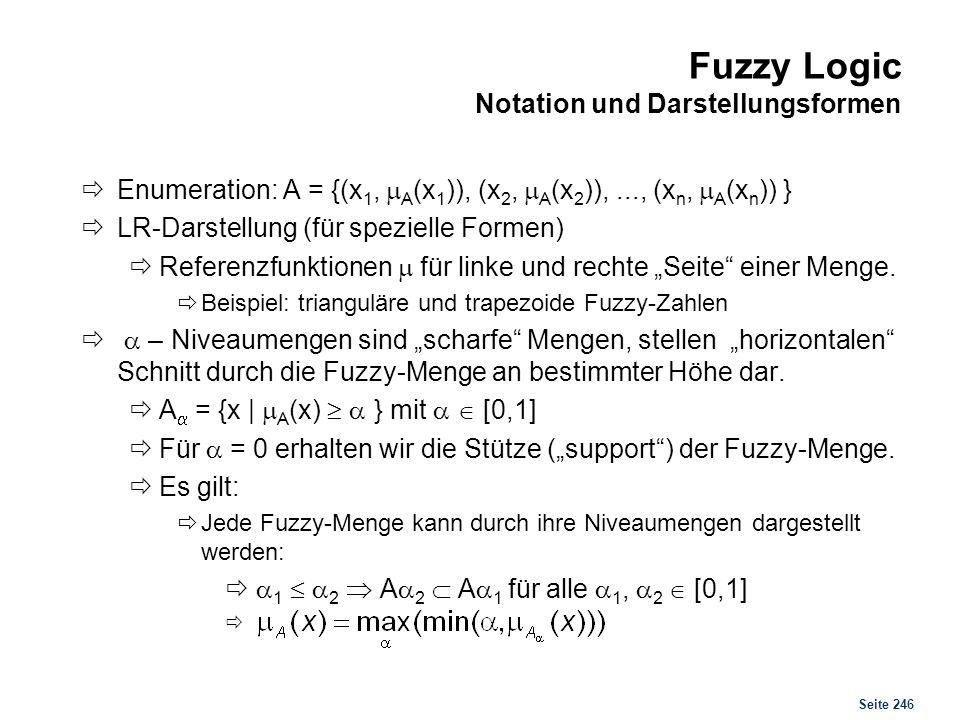 Fuzzy Logic Gewinnung einer Fuzzy Menge aus Alpha-Niveau-Mengen