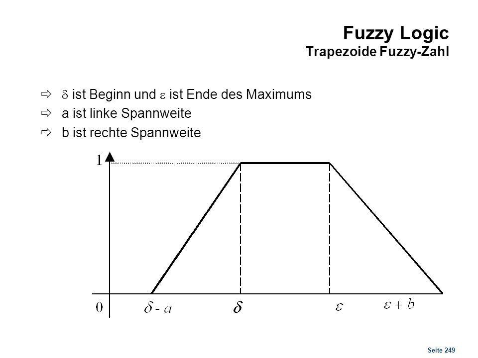 Fuzzy Logic Weitere Notationen