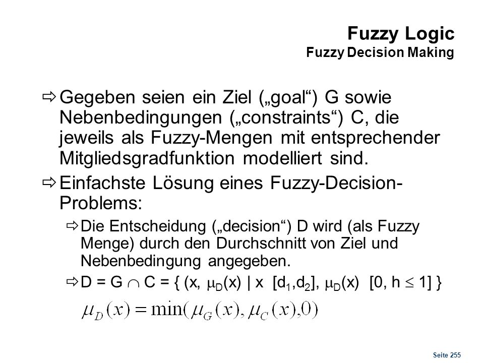 Fuzzy Logic Fuzzy Decision Making