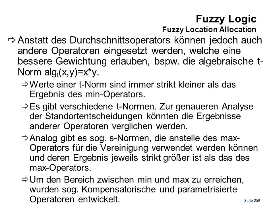 Fuzzy Logic Fuzzy Location Allocation