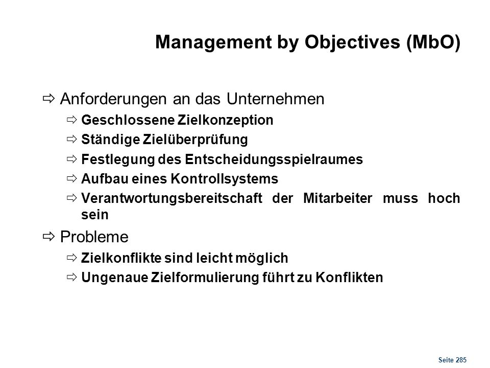 Management by Delegation (MbD)