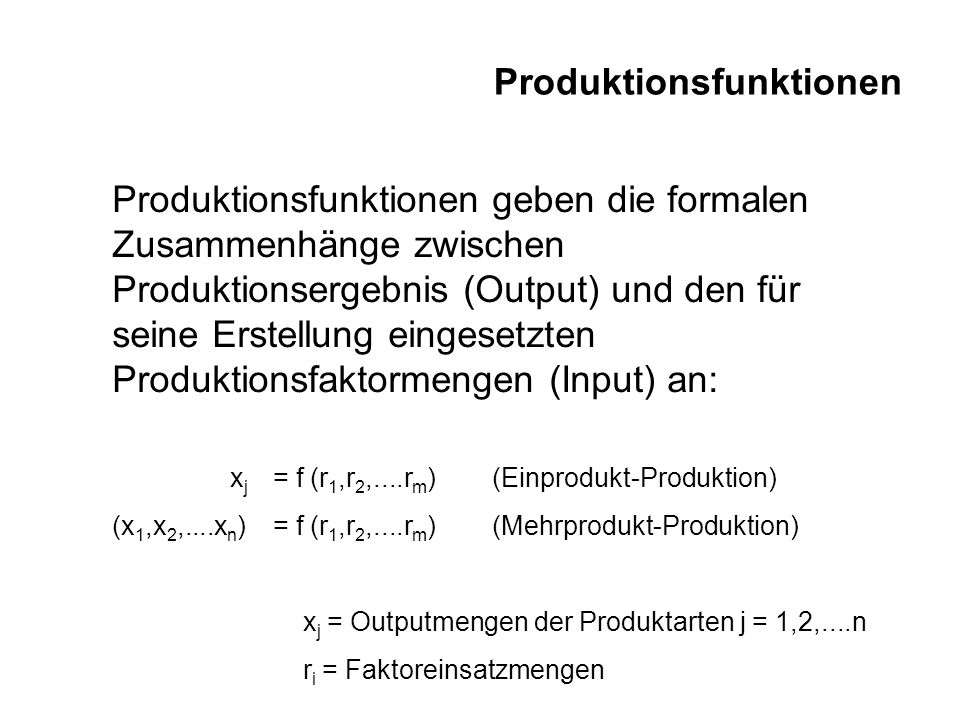 Produktionsfaktoren Substitutionalität