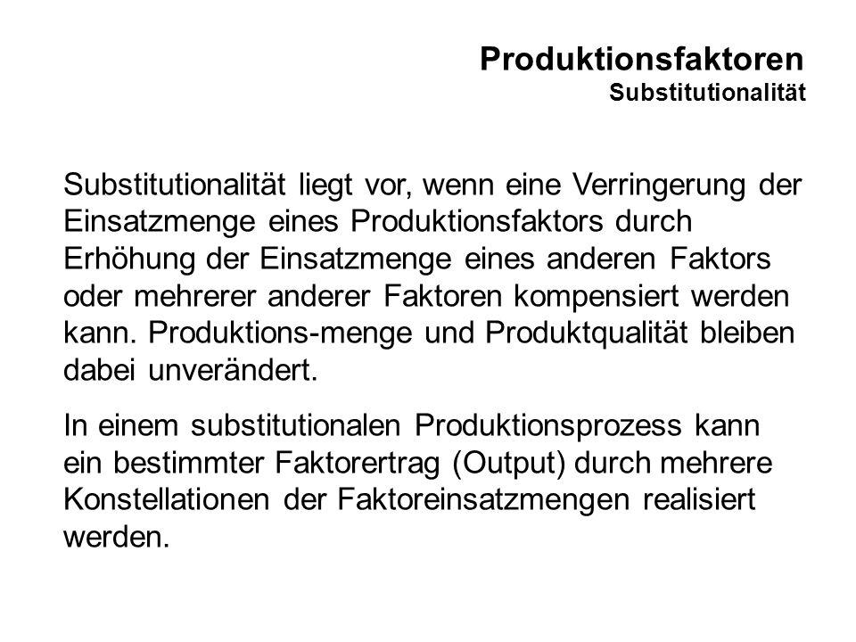 Produktionsfaktoren Limitationalität