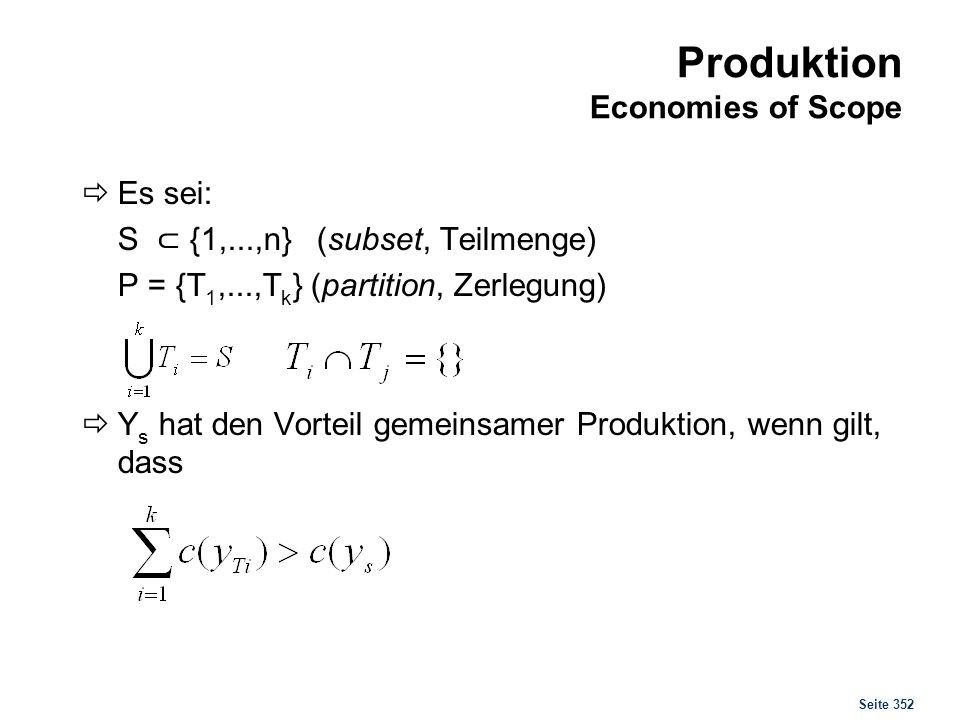 Vorteile gemeinsamer Produktion