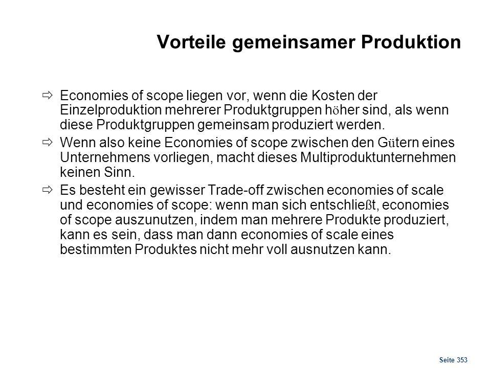 Produktion Anpassungsmaßnahmen