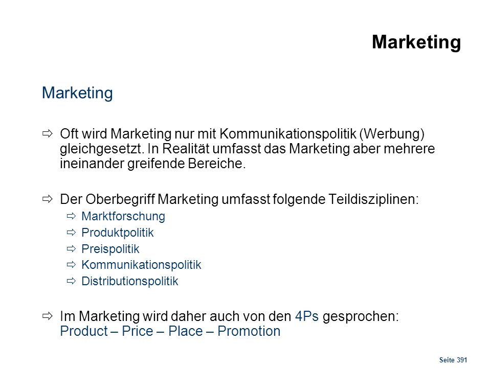 Marketing Marketingprozess