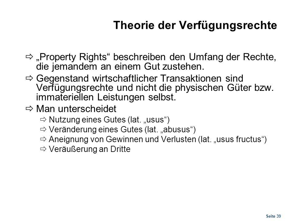 Theorie der Verfügungsrechte