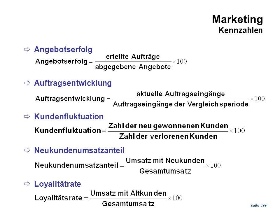 Marketing Kennzahlen Kundenstruktur (einfach)
