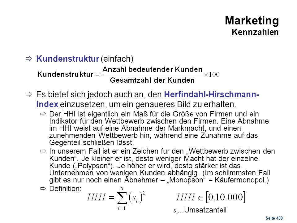 Marketing Kennzahlen Kunde Umsatz Umsatzanteil UA quadriert 1 13 8,39%