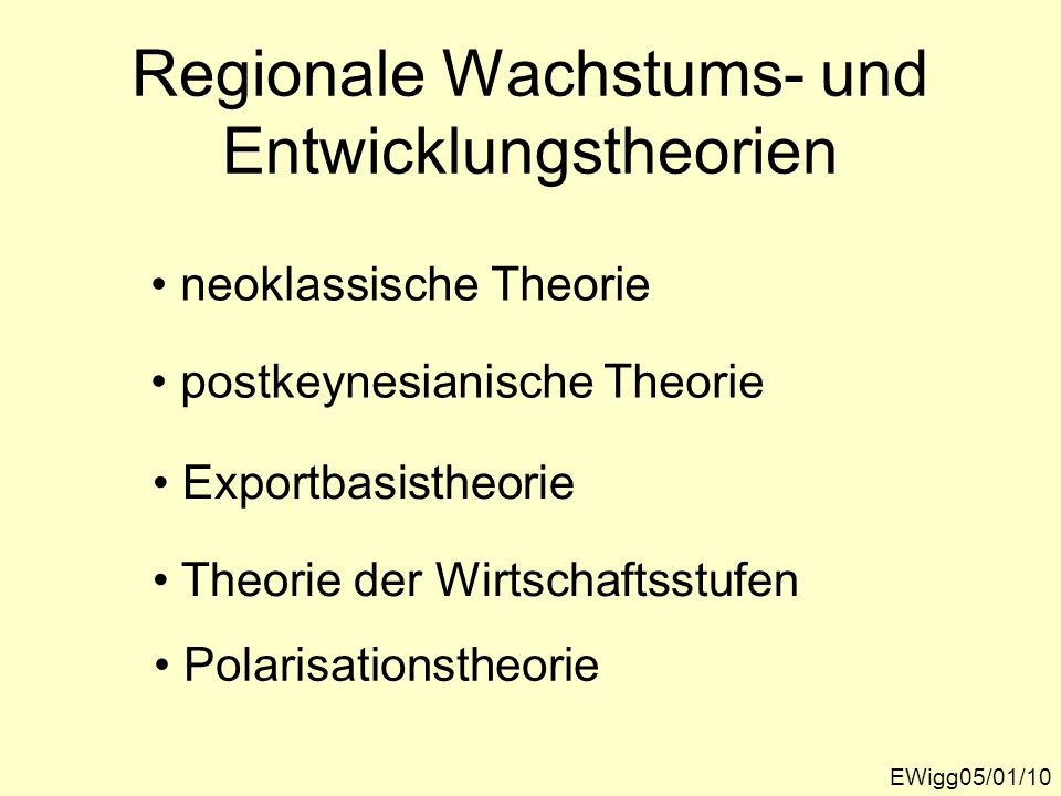 Regionale Wachstums- und Entwicklungstheorien