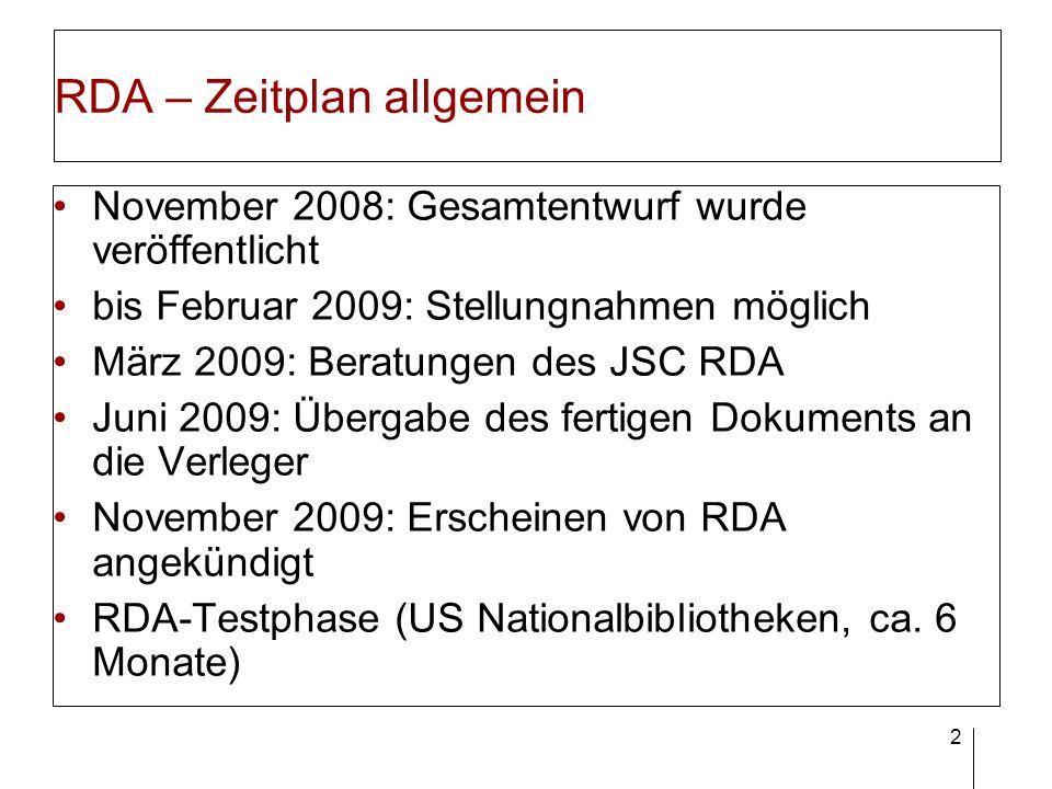 RDA deutsch Gemeinsame deutsche Stellungnahme