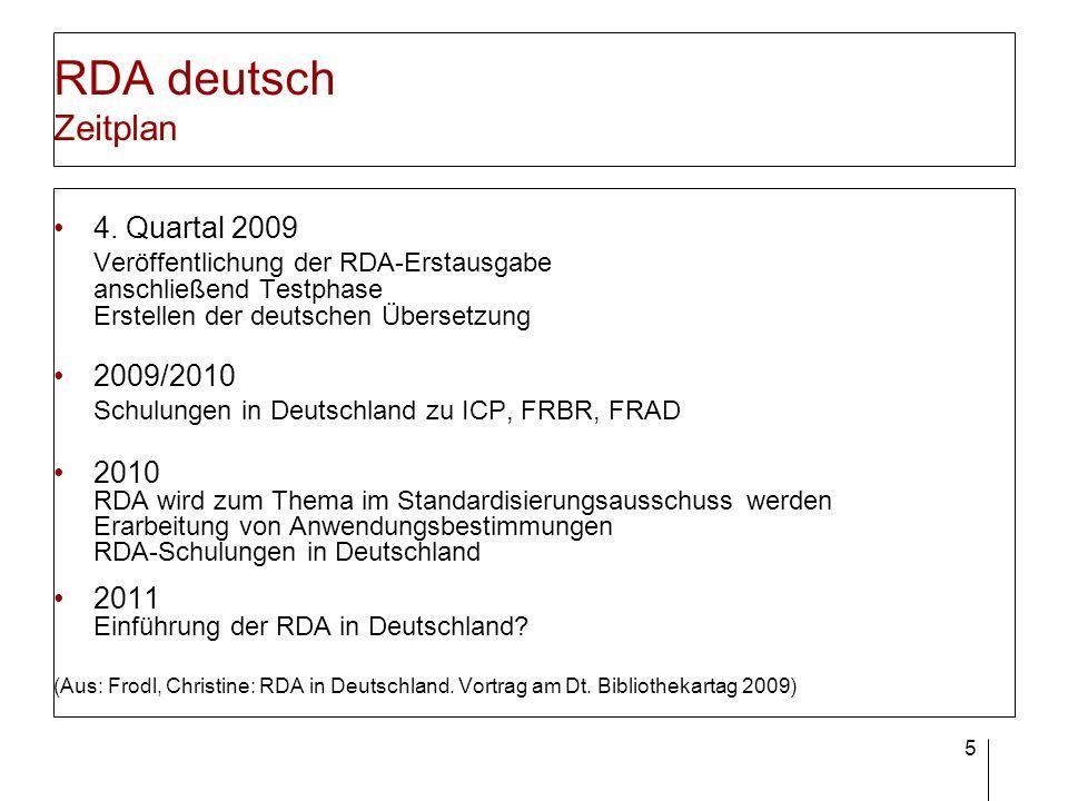 RDA deutsch Deutsche Ausgabe der RDA