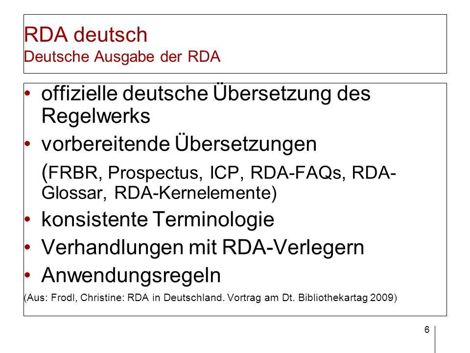 RDA deutsch Schulungskonzept