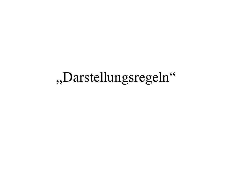 """""""Darstellungsregeln"""