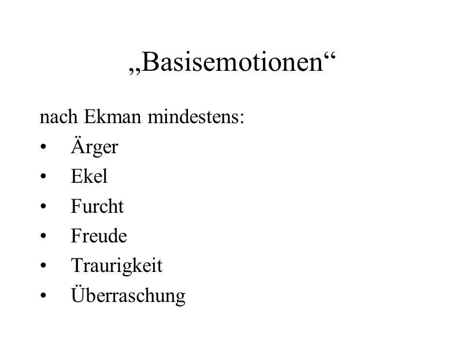 """Basisemotionen nach Ekman mindestens: Ärger Ekel Furcht Freude"