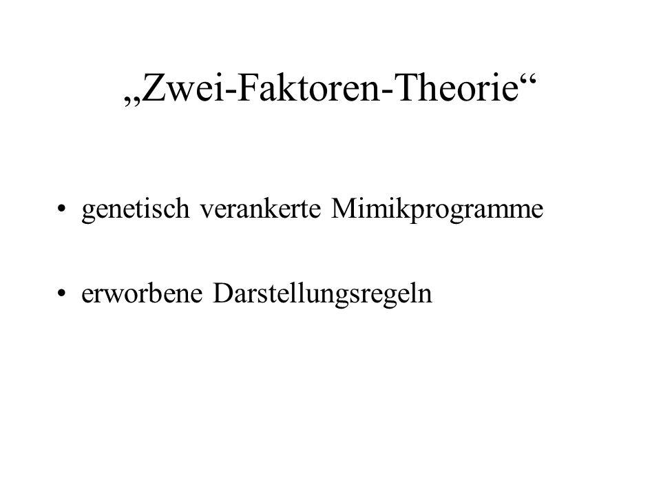 """""""Zwei-Faktoren-Theorie"""