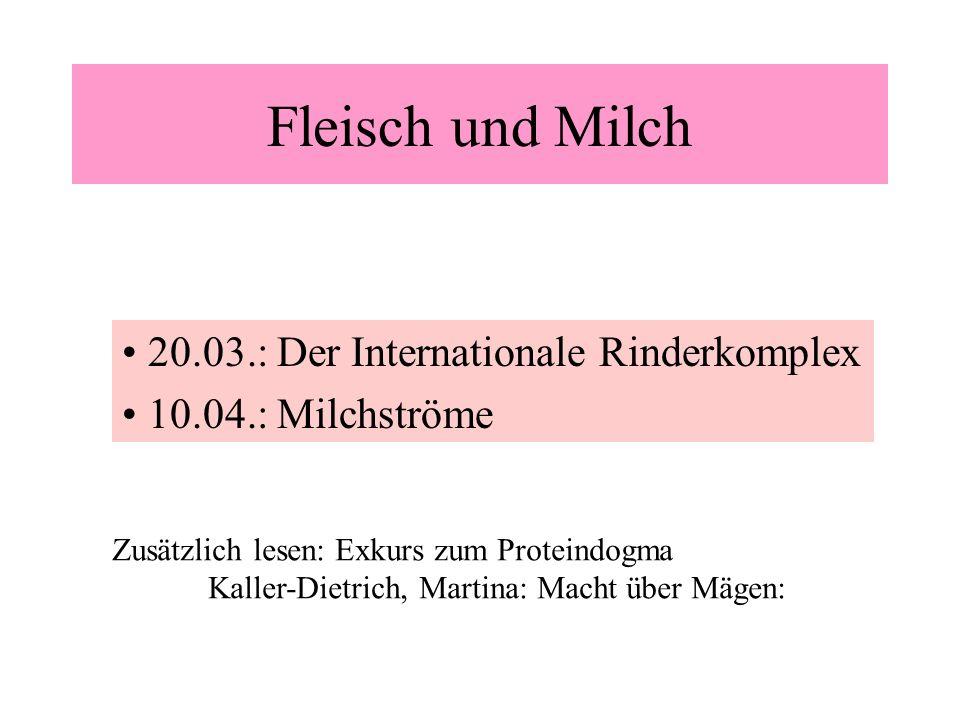 Fleisch und Milch 20.03.: Der Internationale Rinderkomplex