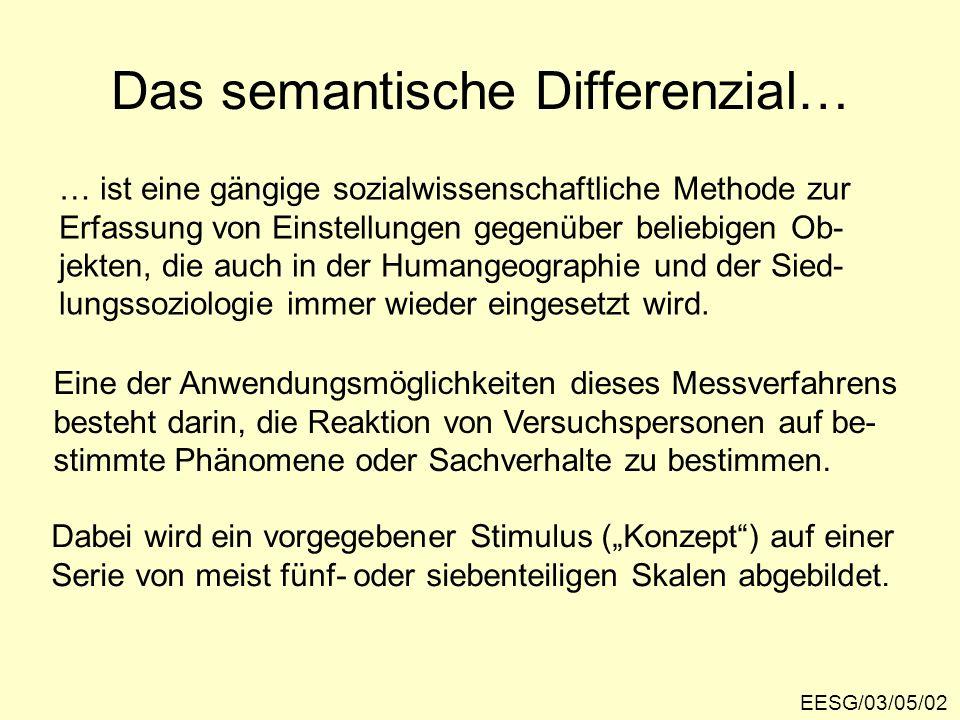 Das semantische Differenzial…