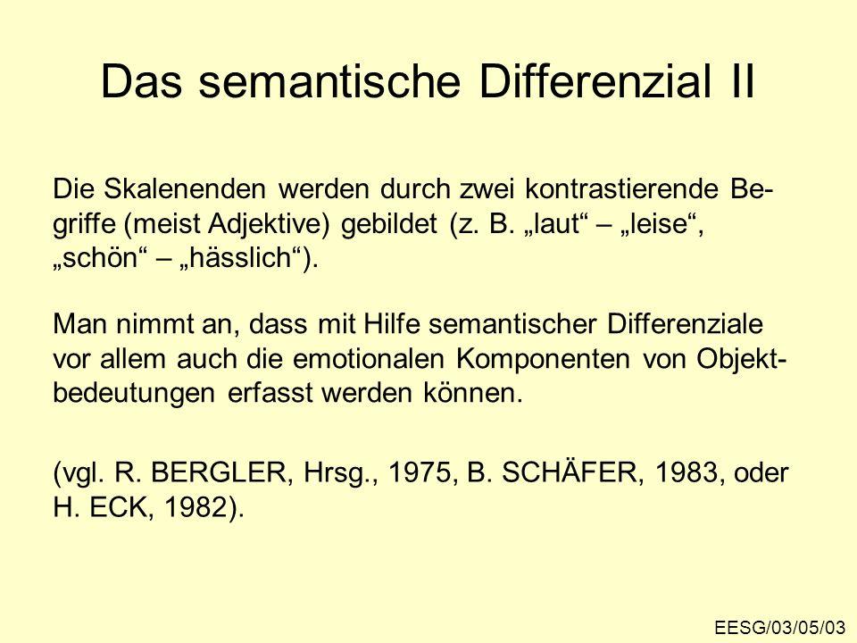 Das semantische Differenzial II