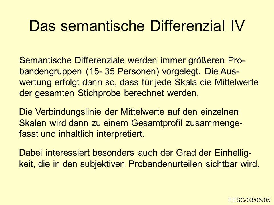 Das semantische Differenzial IV