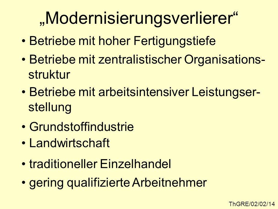 """""""Modernisierungsverlierer"""