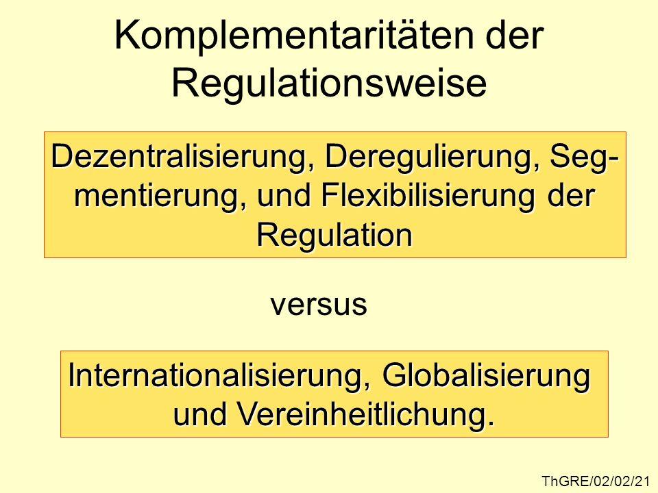 Komplementaritäten der Regulationsweise