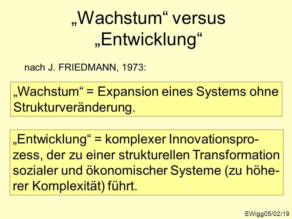 """""""Wachstum versus """"Entwicklung"""