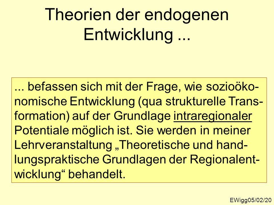 Theorien der endogenen Entwicklung ...