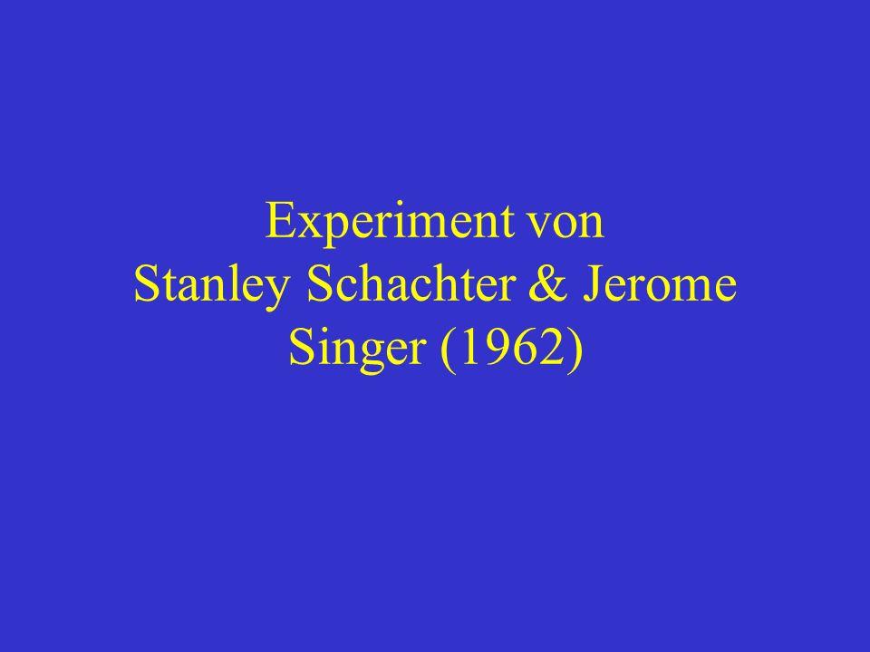 Experiment von Stanley Schachter & Jerome Singer (1962)