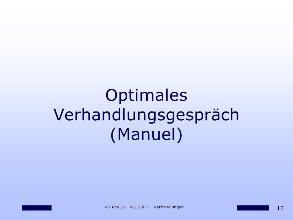 Optimales Verhandlungsgespräch (Manuel)