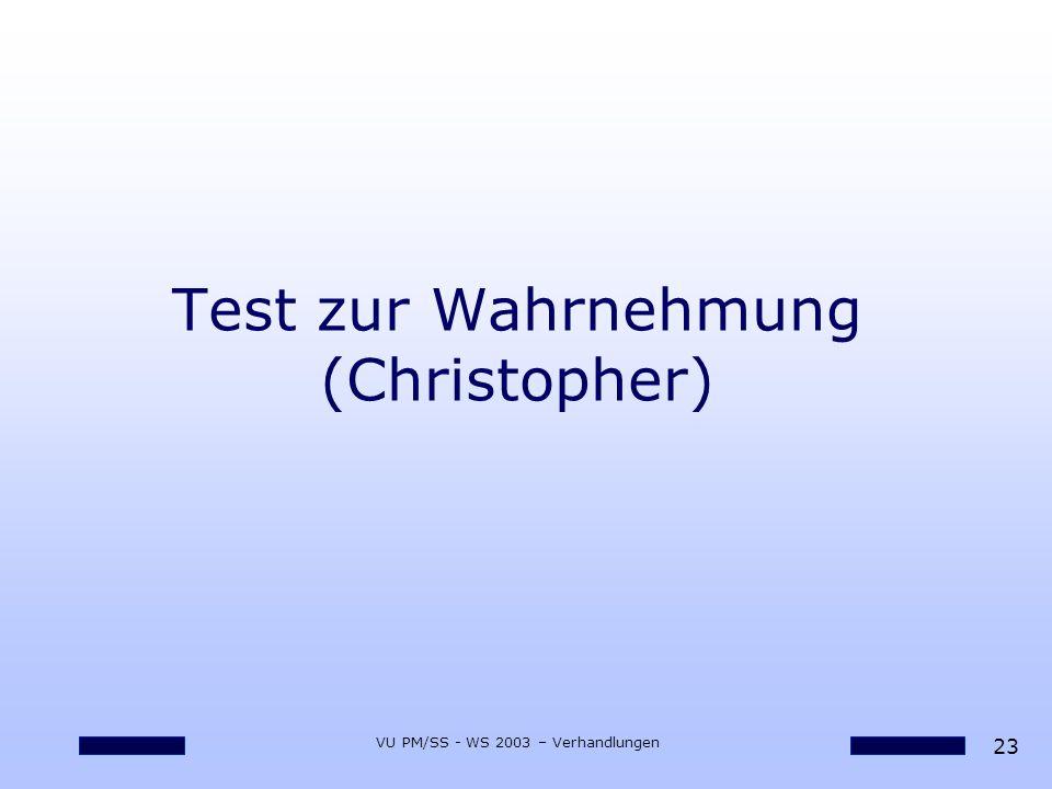 Test zur Wahrnehmung (Christopher)